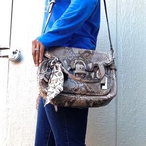 Coach Campbell Exotic Leather Flap Satchel